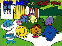 Mr Men and Little Miss having fun with their friends