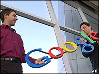 Larry Page and Sergey Brin, Google founders