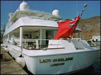 Pic of Robert Maxwell's boat