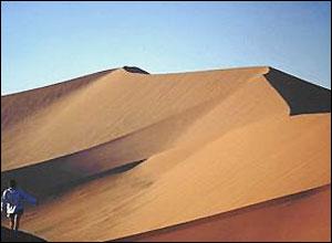Desert dunes along Namibia's coast