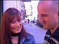 Michelle Davies and Rhys Evans