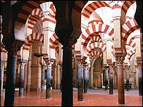 Interior of the mosque of Cordoba