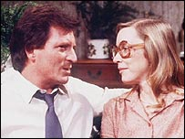 Johnny Briggs and Anne Kirkbride