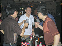 Chinese men drinking