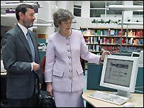 David Blunkett and Eliza Manningham-Buller