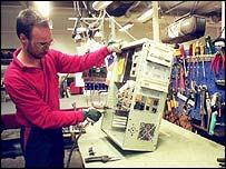 Man making a computer