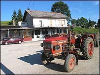 Petar Kunic's restaurant/tractor