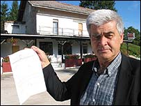 Petar Kunic outside his restaurant