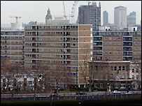 Blocks of flats in London