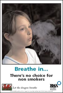 BMA Cymru Wales smoking in public places poster