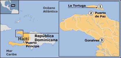 Mapa de Haití