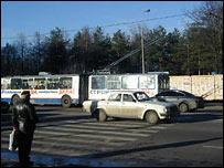Машины на московской дороге