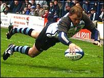 Craig Morgan scored a first-half hat-trick