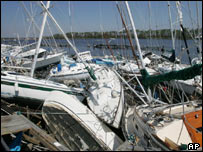 Pile of boats