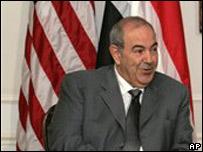 El primer ministro del gobierno interino de Irak, Iyad Allawi