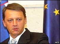 Slovenia's Prime Minister Anton Rop