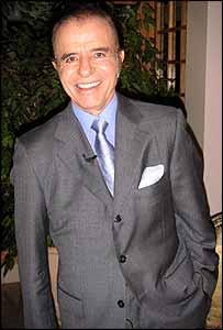 Carlos Menem at his wife's home in Chile, April 2004