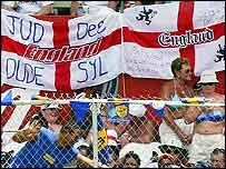 England fans in the West Indies