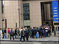 People visiting EU institutions