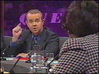 Ian Hislop and Mary Archer