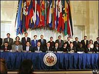 34 miembros de la OEA