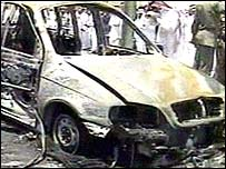 Scene of Saudi attack, 1 May 2004