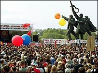 Russophone rally in Riga