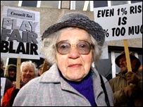 Council tax protester Elizabeth Winkfield