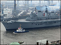 British aircraft carrier Ark Royal