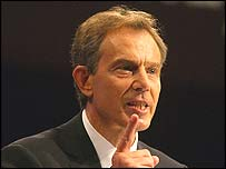 Tony Blair at the 2003 conference