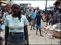Madame Sirus in Gonaives, Haiti
