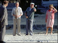 A game of boules in France