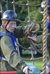 Prince Harry during his assessment