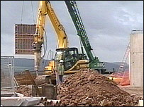 Building work at Portway School
