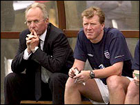 McClaren (right) was Sven-Goran Eriksson's right-hand man at the 2002 World Cup
