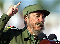 Fidel Castro delivers May Day speech 2004