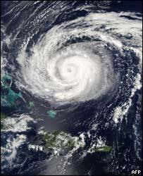 Hurricane Jeanne north of the Bahamas