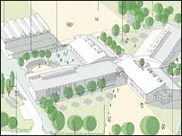 An artist's impression of the new Henbury School