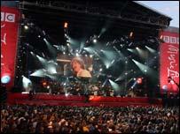 Bob Geldof on stage