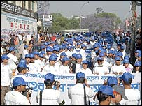 Journalists protest on World Press Freedom Day in Kathmandu. Photo: Min Bajracharya