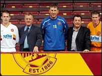 The Boyle brothers unveil Motherwell's new kit