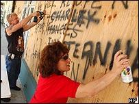 Florida residents board up again as a hurricane heads their way