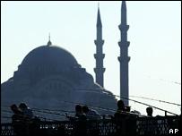The Ottoman-era New Mosque in Istanbul, Turkey
