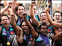 Port Adelaide celebrate victory in the AFL Grand Final