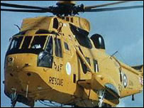 An RAF Sea King helicopter