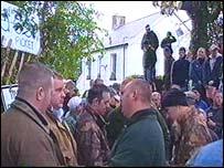 Pro-hunt protest