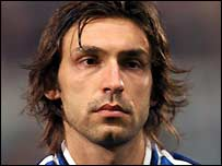 Italy midfielder Andrea Pirlo