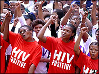 Aids activists in South Africa
