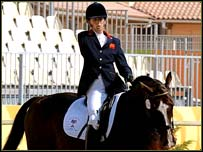 Debbie Criddle won her third equestrian gold medal of the Games