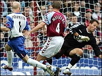 Andy Johnson put Palace ahead